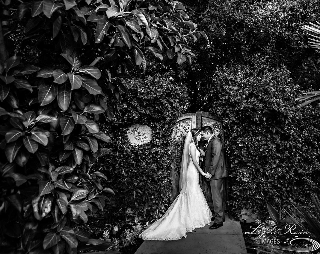 Alegria Garden wedding photo Royal Palms