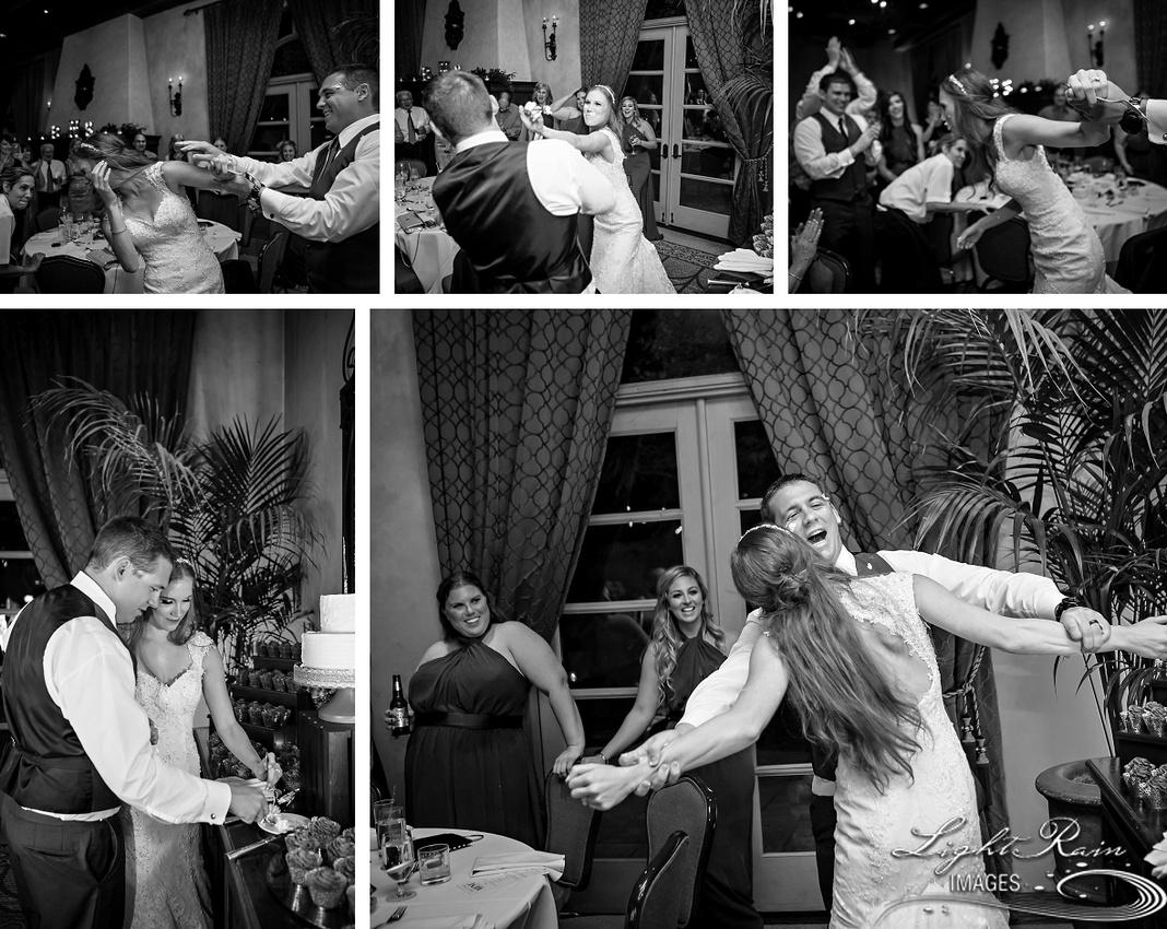 Cake smash photos Royal Palms wedding
