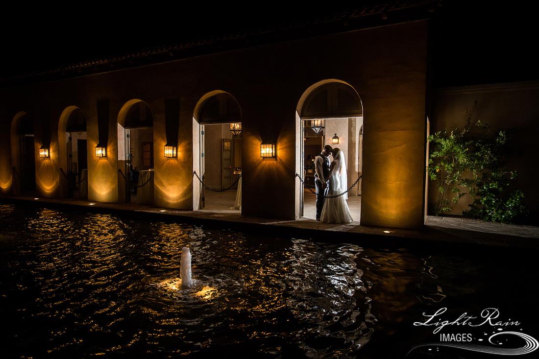 Wedding photography Royal Palms Resort fountain