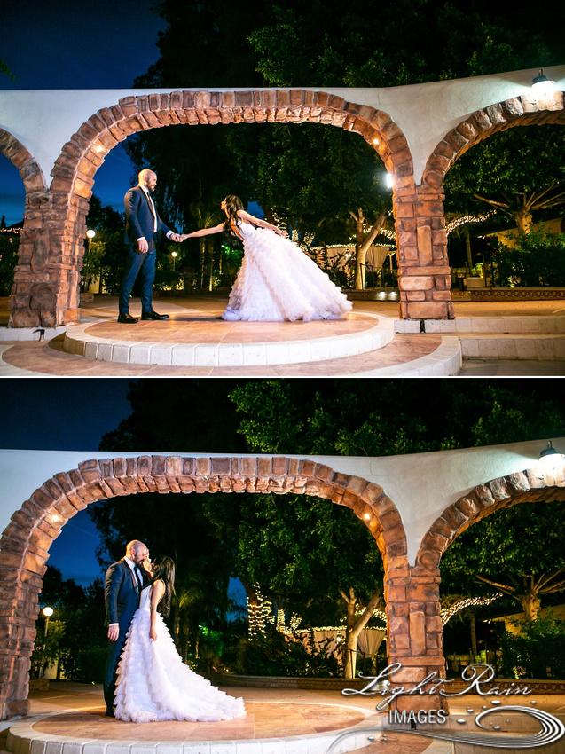 Bride and Groom twilight shots