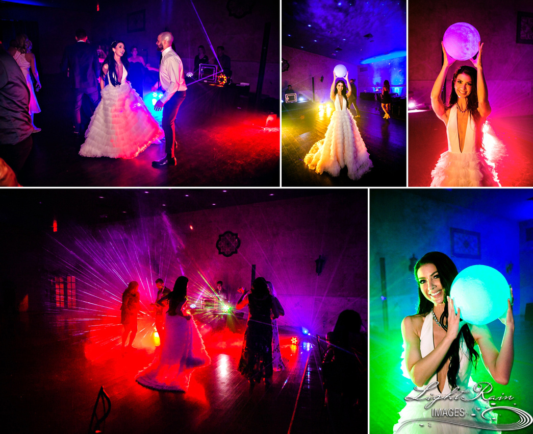 colorful reception dance floor