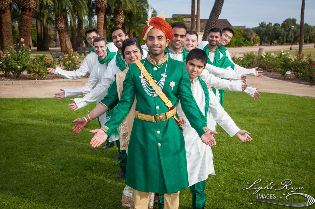 Indian bride bridesmaids