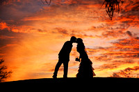 Phoenix Bride and Groom sunset silhouette