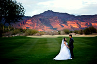 Gold Canyon Golf Resort, bride and groom wedding portrait